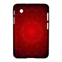 Mandala Ornament Floral Pattern Samsung Galaxy Tab 2 (7 ) P3100 Hardshell Case  by Onesevenart