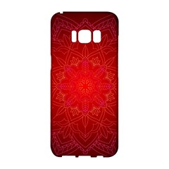Mandala Ornament Floral Pattern Samsung Galaxy S8 Hardshell Case  by Onesevenart