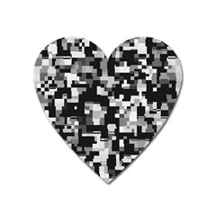 Noise Texture Graphics Generated Heart Magnet by Onesevenart
