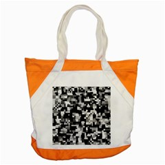Noise Texture Graphics Generated Accent Tote Bag by Onesevenart
