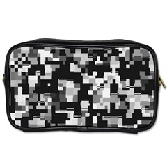 Noise Texture Graphics Generated Toiletries Bags by Onesevenart