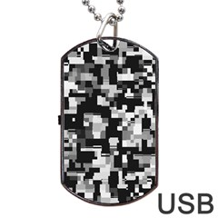 Noise Texture Graphics Generated Dog Tag Usb Flash (one Side) by Onesevenart