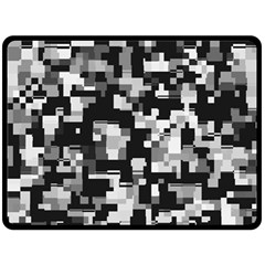 Noise Texture Graphics Generated Double Sided Fleece Blanket (large)  by Onesevenart