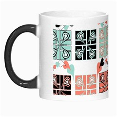 Mint Black Coral Heart Paisley Morph Mugs by Onesevenart