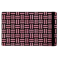 Woven1 Black Marble & Pink Watercolor (r) Apple Ipad 2 Flip Case by trendistuff