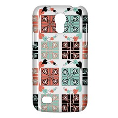 Mint Black Coral Heart Paisley Galaxy S4 Mini by Onesevenart