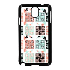 Mint Black Coral Heart Paisley Samsung Galaxy Note 3 Neo Hardshell Case (black) by Onesevenart