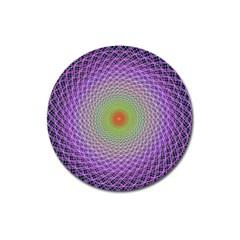 Art Digital Fractal Spiral Spin Magnet 3  (round) by Onesevenart