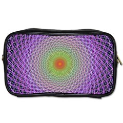 Art Digital Fractal Spiral Spin Toiletries Bags 2 Side by Onesevenart