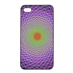 Art Digital Fractal Spiral Spin Apple Iphone 4/4s Seamless Case (black) by Onesevenart