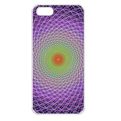 Art Digital Fractal Spiral Spin Apple Iphone 5 Seamless Case (white) by Onesevenart