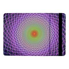 Art Digital Fractal Spiral Spin Samsung Galaxy Tab Pro 10 1  Flip Case by Onesevenart