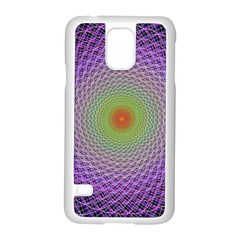 Art Digital Fractal Spiral Spin Samsung Galaxy S5 Case (white) by Onesevenart