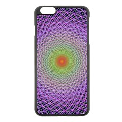 Art Digital Fractal Spiral Spin Apple Iphone 6 Plus/6s Plus Black Enamel Case by Onesevenart