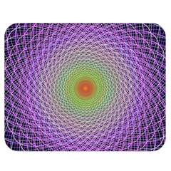Art Digital Fractal Spiral Spin Double Sided Flano Blanket (medium)  by Onesevenart