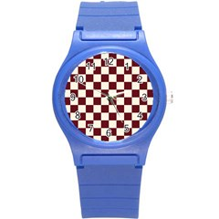 Pattern Background Texture Round Plastic Sport Watch (s) by Onesevenart
