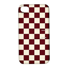 Pattern Background Texture Apple Iphone 4/4s Hardshell Case With Stand by Onesevenart