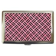 Woven2 Black Marble & Pink Watercolor Cigarette Money Cases by trendistuff