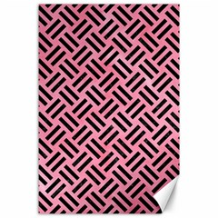Woven2 Black Marble & Pink Watercolor Canvas 24  X 36  by trendistuff