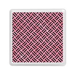 Woven2 Black Marble & Pink Watercolor Memory Card Reader (square)  by trendistuff