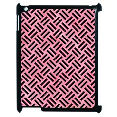 Woven2 Black Marble & Pink Watercolor Apple Ipad 2 Case (black) by trendistuff