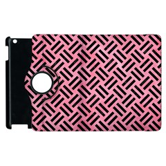 Woven2 Black Marble & Pink Watercolor Apple Ipad 3/4 Flip 360 Case by trendistuff