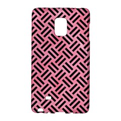 Woven2 Black Marble & Pink Watercolor Galaxy Note Edge by trendistuff