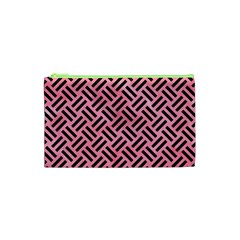 Woven2 Black Marble & Pink Watercolor Cosmetic Bag (xs) by trendistuff