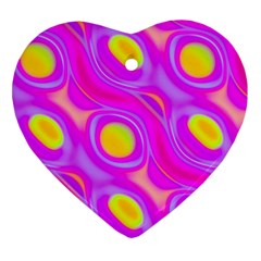 Noise Texture Graphics Generated Heart Ornament (two Sides) by Onesevenart