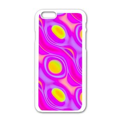 Noise Texture Graphics Generated Apple Iphone 6/6s White Enamel Case by Onesevenart