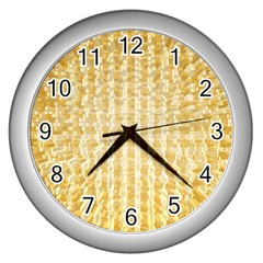 Pattern Abstract Background Wall Clocks (silver)  by Onesevenart
