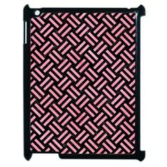Woven2 Black Marble & Pink Watercolor (r) Apple Ipad 2 Case (black) by trendistuff