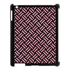 Woven2 Black Marble & Pink Watercolor (r) Apple Ipad 3/4 Case (black) by trendistuff