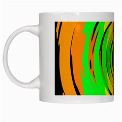 Pattern Colorful Glass Distortion White Mugs by Onesevenart
