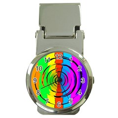 Pattern Colorful Glass Distortion Money Clip Watches by Onesevenart