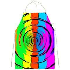 Pattern Colorful Glass Distortion Full Print Aprons by Onesevenart