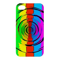 Pattern Colorful Glass Distortion Apple Iphone 4/4s Hardshell Case by Onesevenart