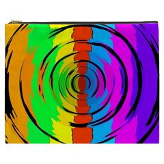 Pattern Colorful Glass Distortion Cosmetic Bag (xxxl)  by Onesevenart