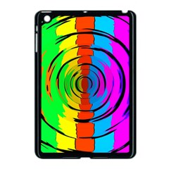 Pattern Colorful Glass Distortion Apple Ipad Mini Case (black) by Onesevenart