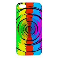 Pattern Colorful Glass Distortion Iphone 5s/ Se Premium Hardshell Case by Onesevenart