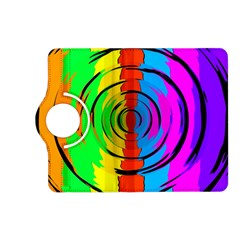 Pattern Colorful Glass Distortion Kindle Fire Hd (2013) Flip 360 Case by Onesevenart