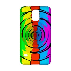 Pattern Colorful Glass Distortion Samsung Galaxy S5 Hardshell Case  by Onesevenart