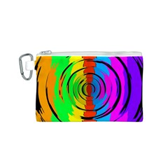 Pattern Colorful Glass Distortion Canvas Cosmetic Bag (s) by Onesevenart