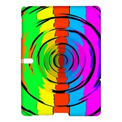 Pattern Colorful Glass Distortion Samsung Galaxy Tab S (10 5 ) Hardshell Case  by Onesevenart