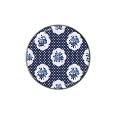 Shabby Chic Navy Blue Hat Clip Ball Marker (10 Pack) by 8fugoso