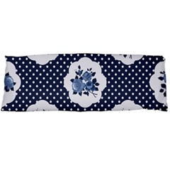 Shabby Chic Navy Blue Body Pillow Case (dakimakura) by 8fugoso