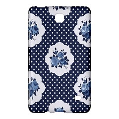 Shabby Chic Navy Blue Samsung Galaxy Tab 4 (7 ) Hardshell Case  by 8fugoso