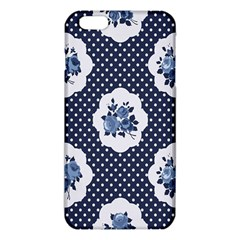 Shabby Chic Navy Blue Iphone 6 Plus/6s Plus Tpu Case by 8fugoso