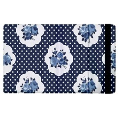 Shabby Chic Navy Blue Apple Ipad Pro 12 9   Flip Case by 8fugoso