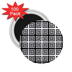 Seamless Pattern Background Black And White 2 25  Magnets (100 Pack)  by Onesevenart
